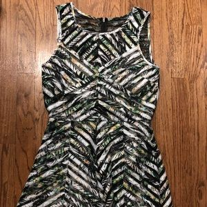 Parker printed mini dress with sheer details